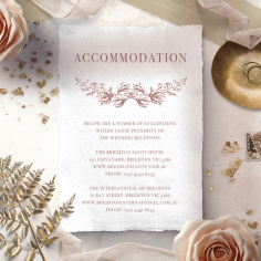 Fragrant Romance wedding stationery accommodation enclosure invite card design