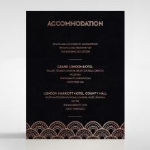 Gatsby Glamour wedding stationery accommodation enclosure card design