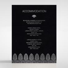 Gilded Decadence wedding accommodation card design