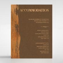 Gilded Stroke wedding stationery accommodation invite card design