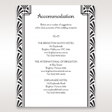 Glitzy Gatsby Foil Stamped Patterns accommodation invitation
