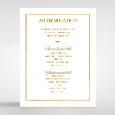 Gold Foil Baroque Gates wedding accommodation enclosure card design