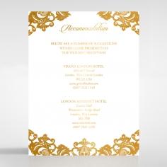 Golden Baroque Pocket with Foil wedding accommodation invitation