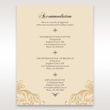 Golden Charisma wedding stationery accommodation enclosure invite card
