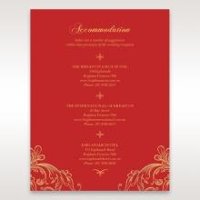 Golden Charisma wedding stationery accommodation enclosure invite card design