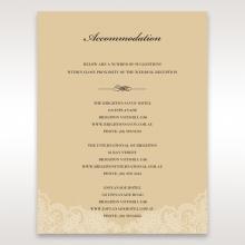 Golden Classic wedding accommodation invite card design