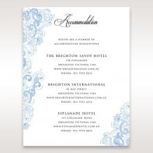 Graceful Wreath Pocket wedding accommodation enclosure card design