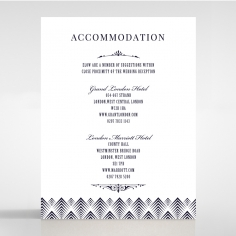 Gradient Glamour accommodation invite card