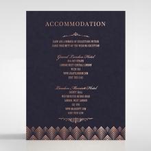 Gradient Glamour wedding accommodation card