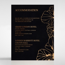 Grand Flora accommodation invite card design