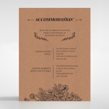 Hand Delivery accommodation wedding card design