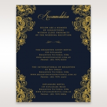 Imperial Glamour with Foil accommodation enclosure stationery card