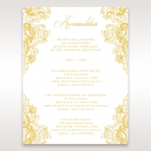 Imperial Glamour with Foil wedding accommodation card design