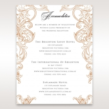 Imperial Pocket wedding accommodation invite card design