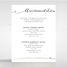 Infinity wedding accommodation card design