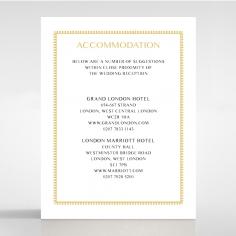 Ivory Doily Elegance wedding accommodation enclosure invite card design