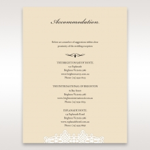 Ivory Victorian Charm accommodation invite card