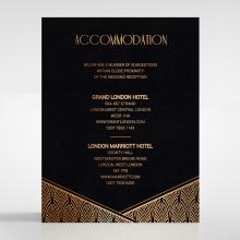Jeweled Ikat accommodation stationery card