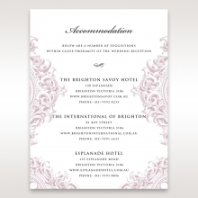 Jewelled Elegance wedding accommodation enclosure card