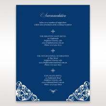 Jewelled Navy Half Pocket accommodation invitation card design