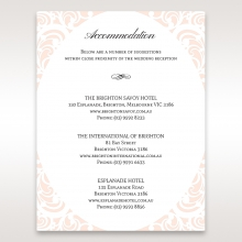 Laser cut Bliss wedding stationery accommodation enclosure card design