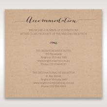 Laser Cut Doily Delight wedding accommodation card design