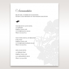 Laser Cut Floral Wedding wedding accommodation card