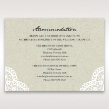 Letters of love wedding accommodation invitation