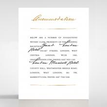 Love Letter accommodation enclosure card design