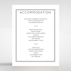 Luxe Paper Elegance wedding stationery accommodation enclosure card design