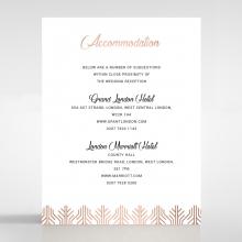 Luxe Rhapsody accommodation wedding invite card