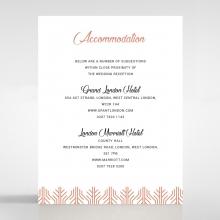 Luxe Rhapsody accommodation wedding invite card design