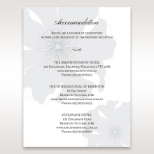 Magical Flower wedding stationery accommodation invite card design