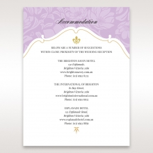 Majestic Gold Floral wedding stationery accommodation invite