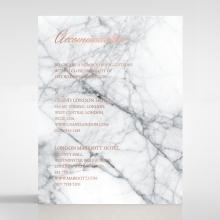 Marble Minimalist accommodation wedding card