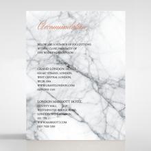 Marble Minimalist accommodation wedding card design