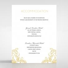 Modern Crest accommodation invitation