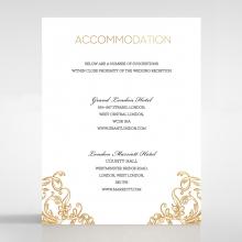 Modern Crest accommodation invitation card