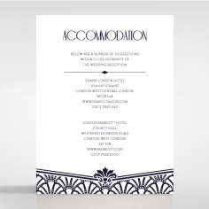 Modern Deco accommodation invitation card design