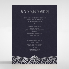 Modern Deco accommodation invite card