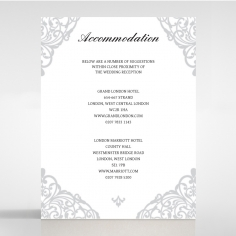 Modern Vintage accommodation invitation card