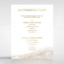 Moonstone accommodation enclosure invite card design