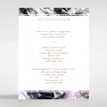 Mulberry Mozaic  with Foil accommodation stationery invite card design