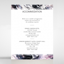 Mulberry Mozaic accommodation card design