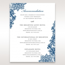 Noble Elegance wedding accommodation invite card