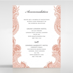 Paisley Grandeur accommodation stationery card