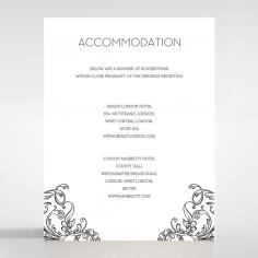 Paper Aristocrat accommodation invite card