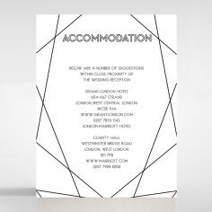 Paper Art Deco wedding stationery accommodation invite card design