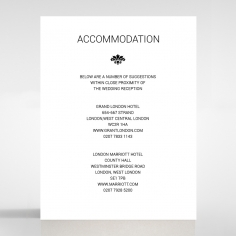 Paper Gilded Decadence accommodation invitation card