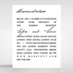 Paper Modern Romance wedding stationery accommodation invite card